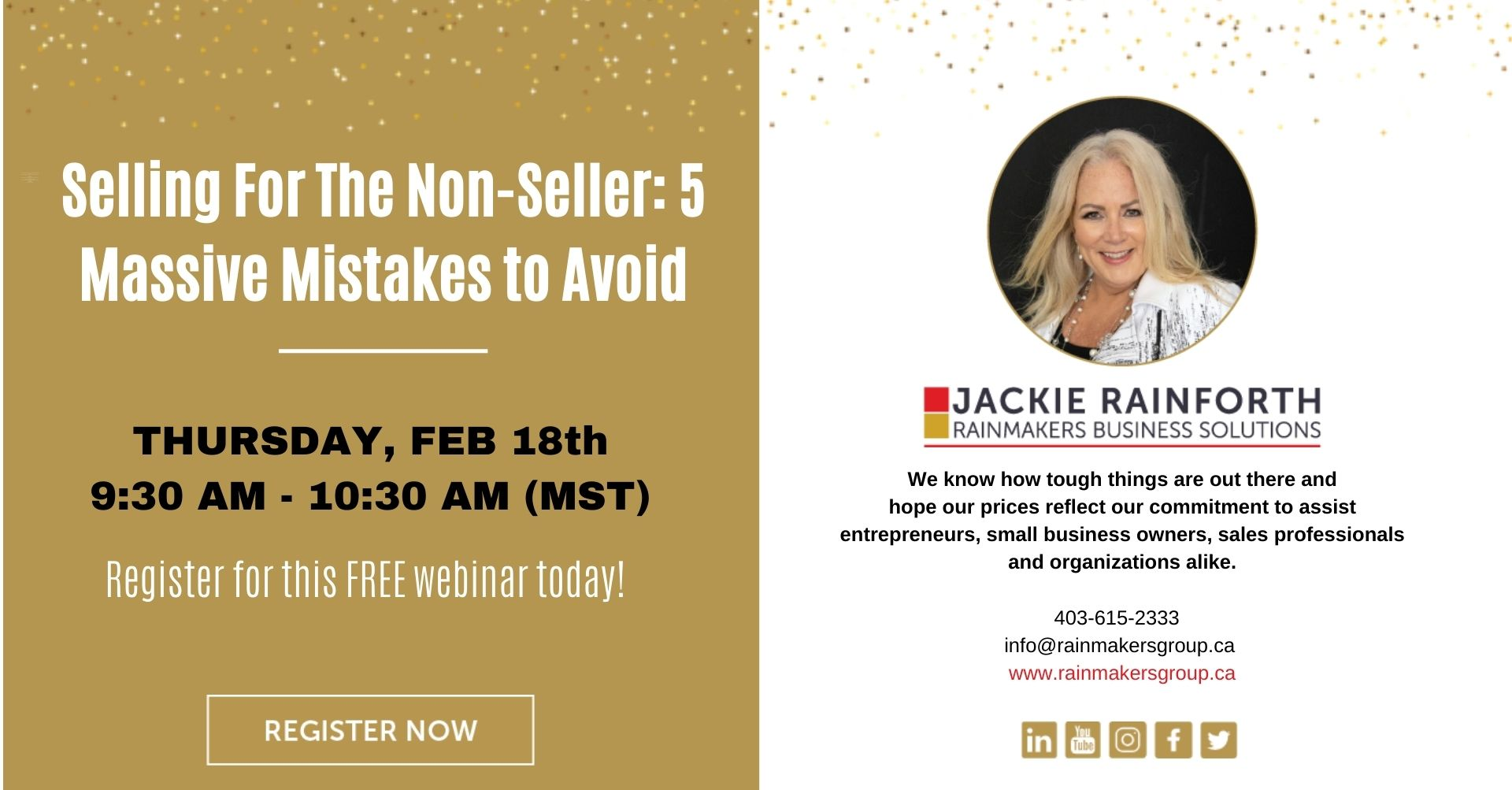free webinar-selling mistakes to avoid, february 18