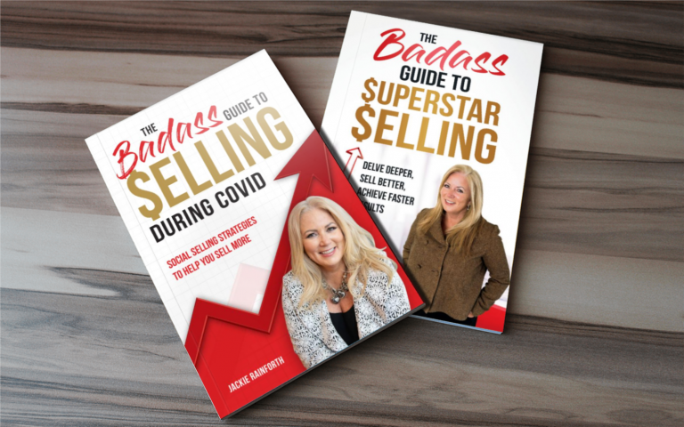 Learn to sell, learn to sell during COVID, books, author, Jackie Rainforth, sales training